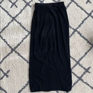 Madewell maxi skirt with high slit